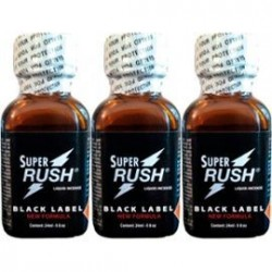 Poppers Super Rush black label 24 ml by 3